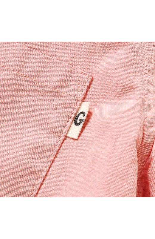 左ポケット横にさりげなくゴリさんオリジナルのシルシ「G」ロゴのネームタグ付き。