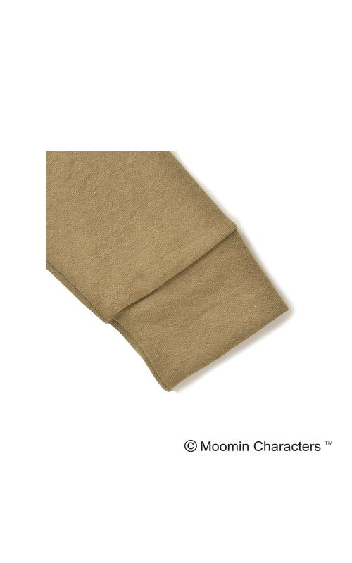 袖口とすそは、同素材の生地にしてみました。太め幅の切り替えがポイントです。