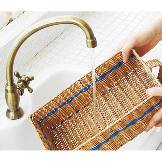 汚れてもサッと水洗いOK。
