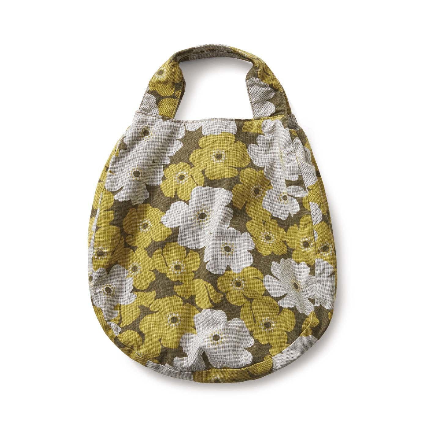 サニークラウズ 花柄オーバルバッグ