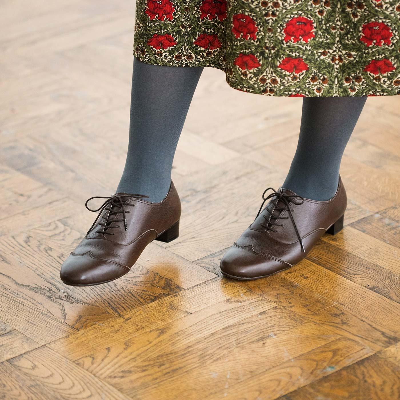 長田靴職人の本革仕立て シンプルレースアップレザーシューズ(ブラウン)[本革 靴:日本製]
