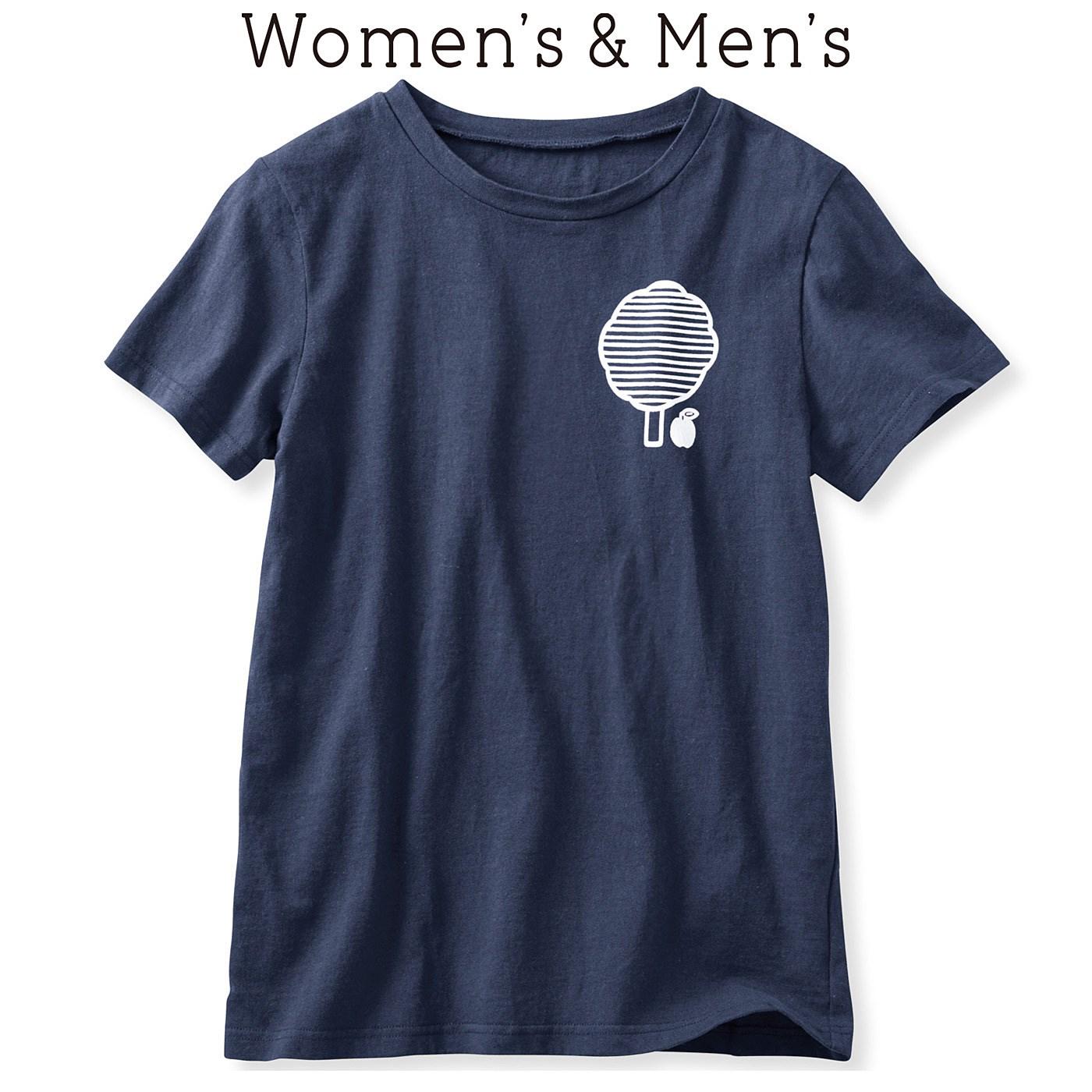 イラストレーターの山内庸資(やまうちようすけ)さんとつくった コミュニケーションTシャツ〈オトナ〉 (ネイビー)