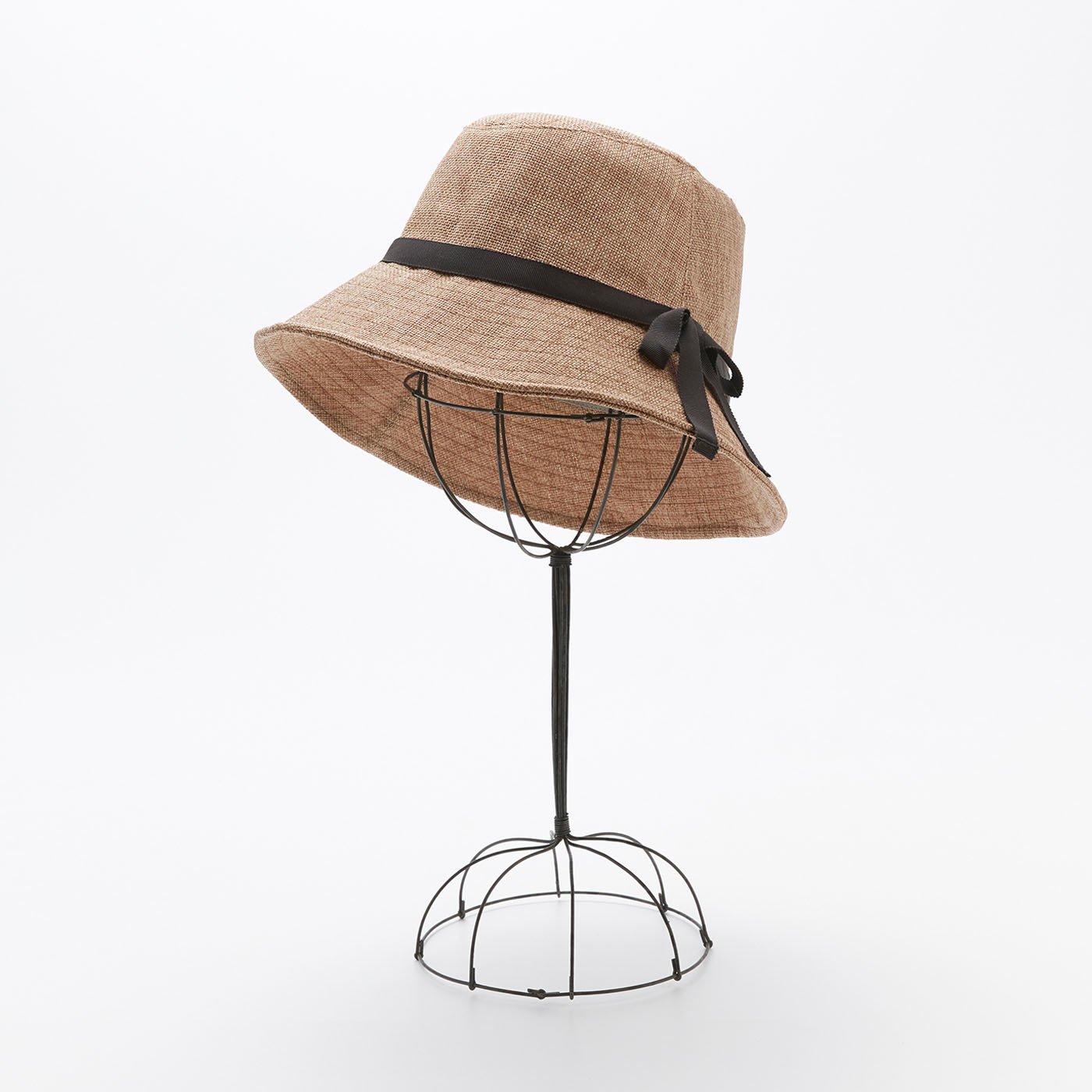 odds リボンを巻いた帽子〈ブラウン〉