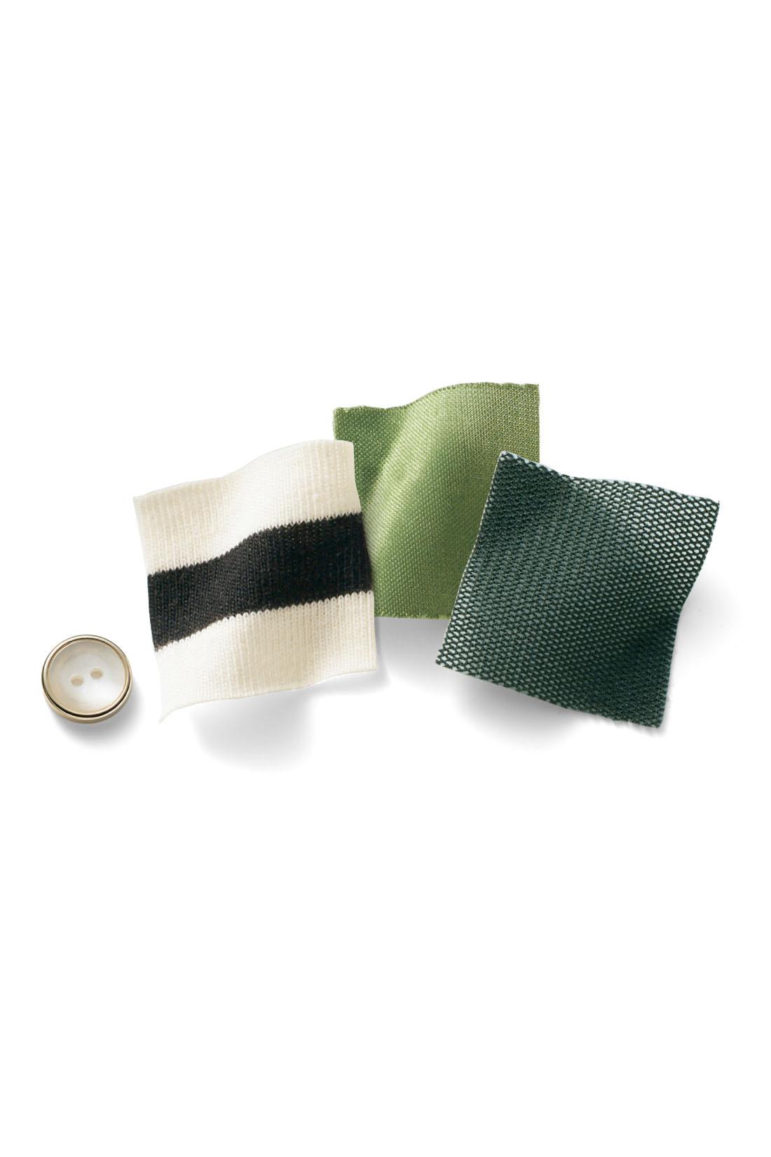 トップス部分は綿混素材のカットソーで心地よく、スカート部分はチュールを重ねて軽やかな印象に。