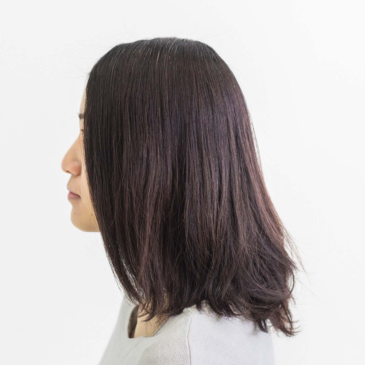 【BEFORE】頭頂部がペタンコで寂しい印象になりがちな髪にも、カールやトップのボリュームアップが簡単にできます。