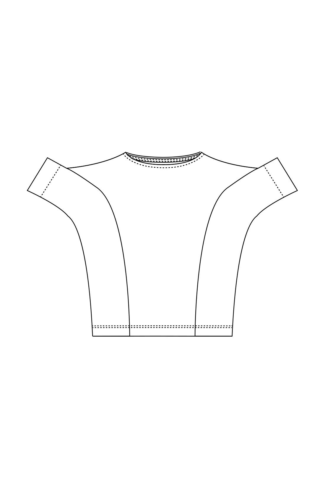 袖口からすそまで切り替えたユニークなパターン、着た時にふわりとした立体的なシルエットを実現。