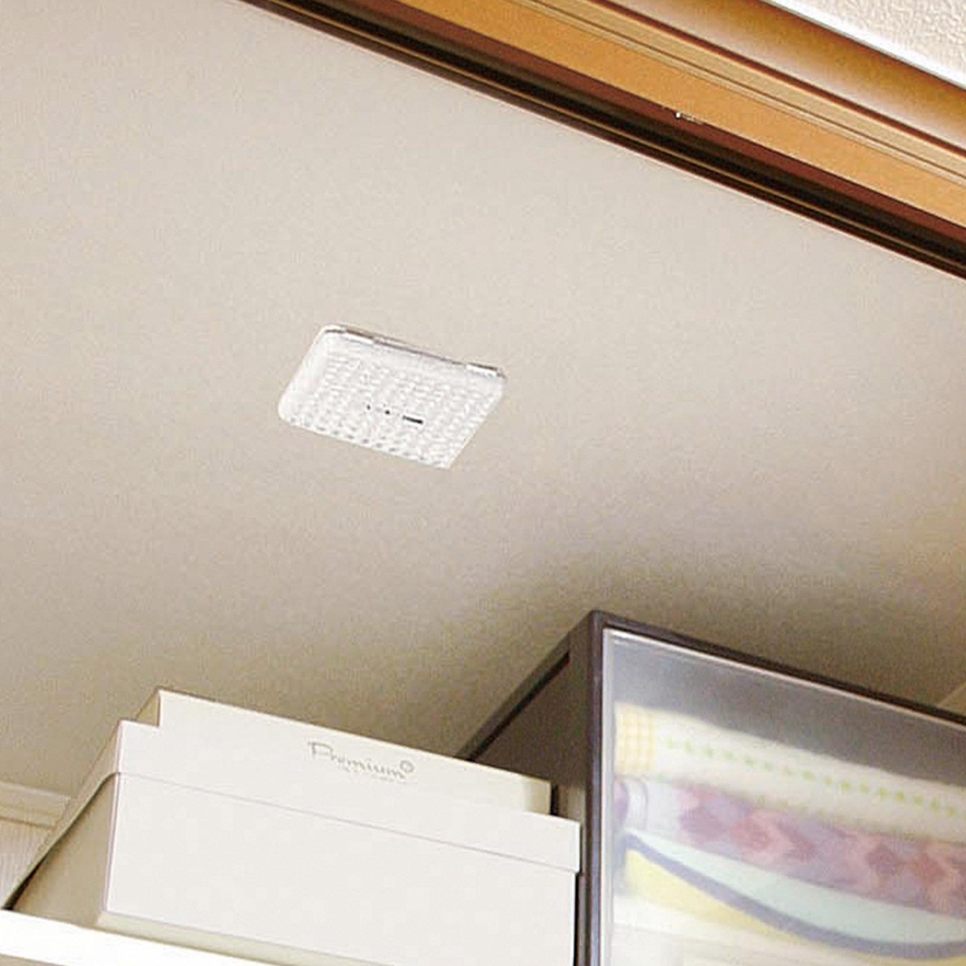 押し入れやクローゼットの天井にペタッと貼るだけでカビの発生を抑制。