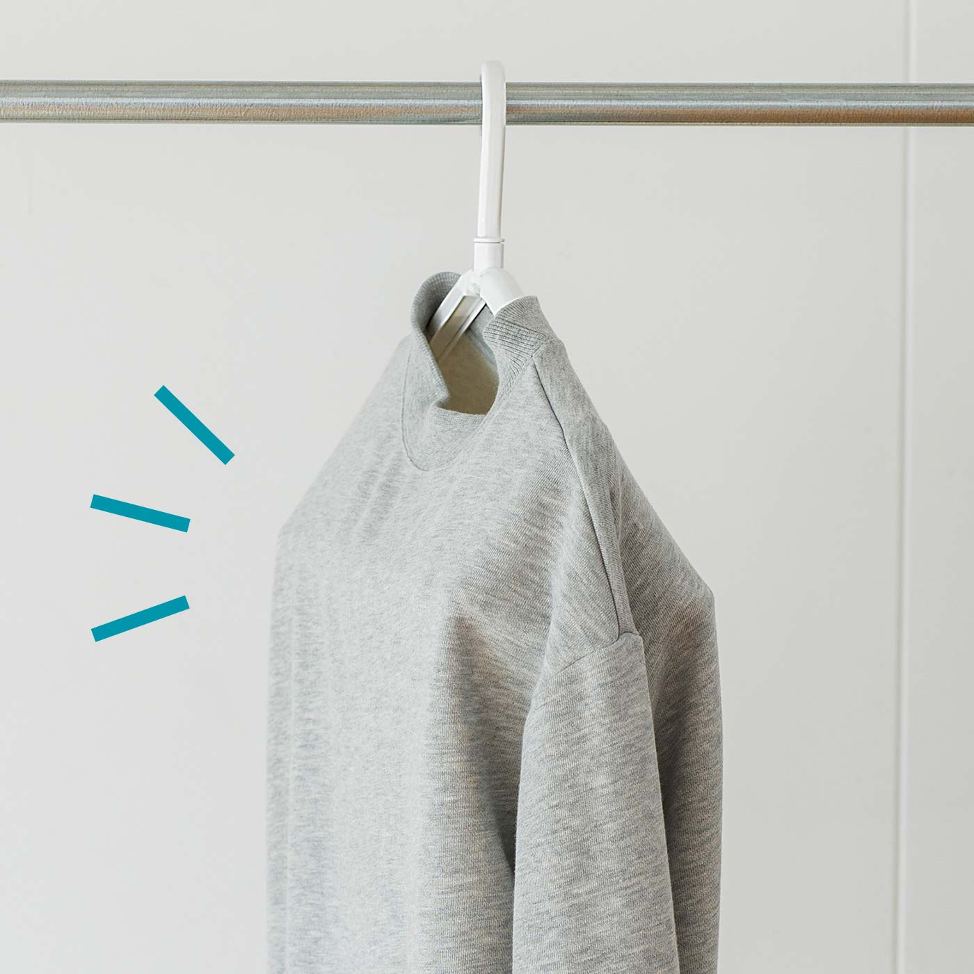 衣類にも!内側に空間ができ乾きやすい!