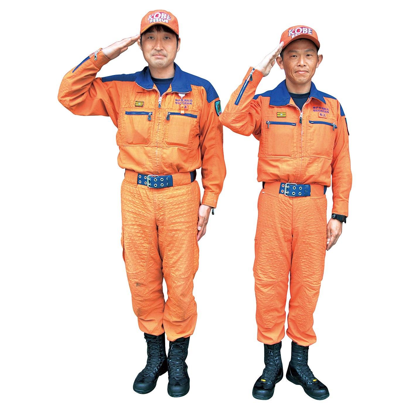 <ブルー・オレンジ共通>大規模災害や特殊災害には特別高度救助隊「スーパーイーグルこうべ」が出動します。