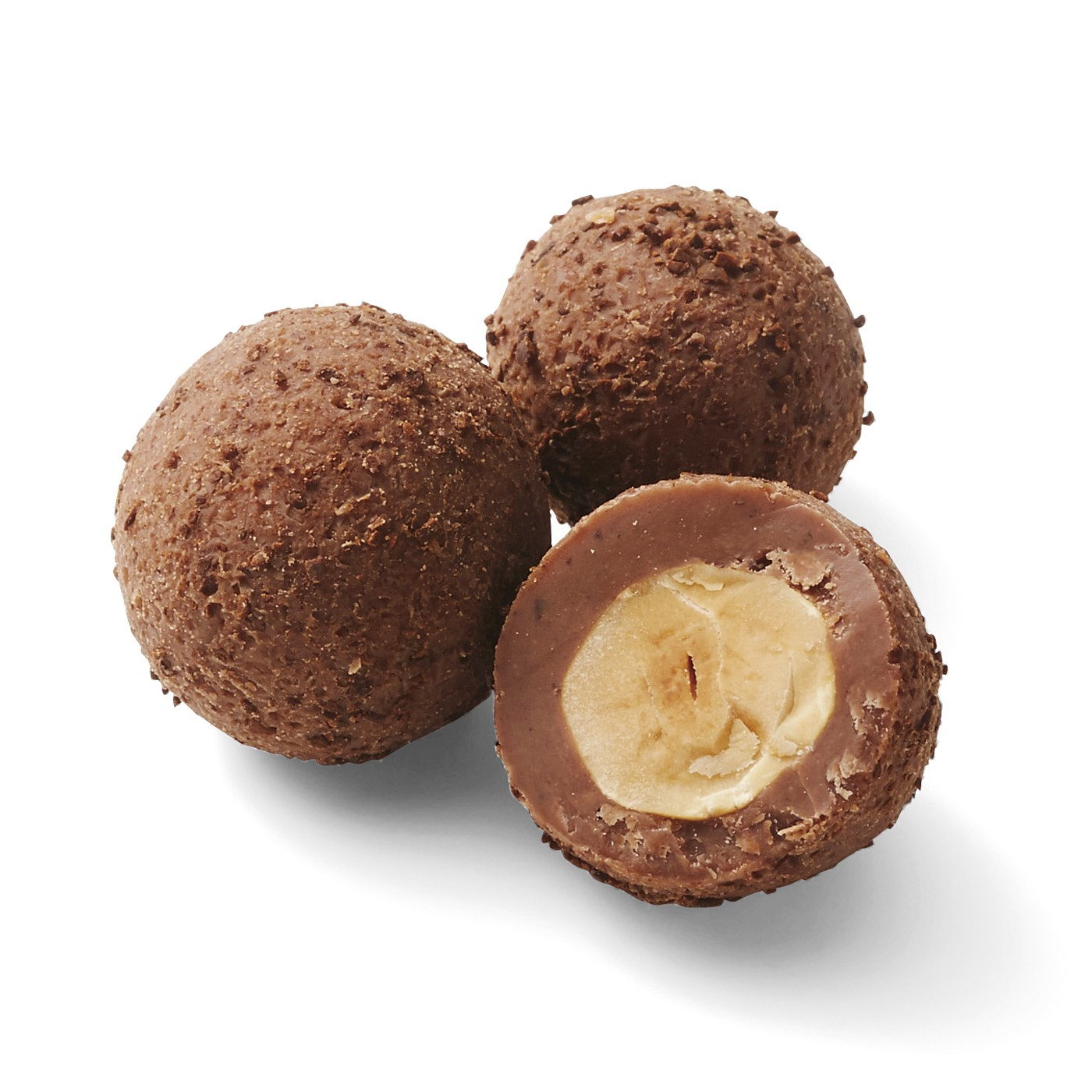 4 ヘーゼルナッツコーヒーミルク: ミルクチョコ、なめらかなヘーゼルナッツクリーム、細かく砕いたエチオピア産アラビカコーヒーが完璧に調和。