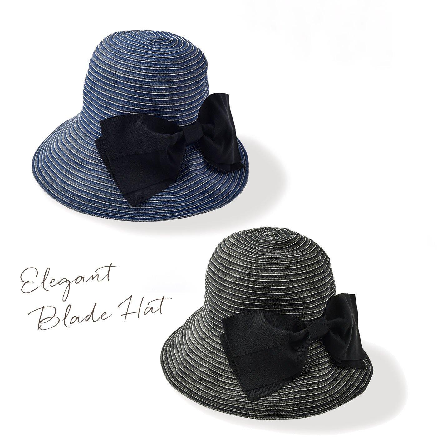 帽子の老舗と共同開発した デニム調UVブレードハット