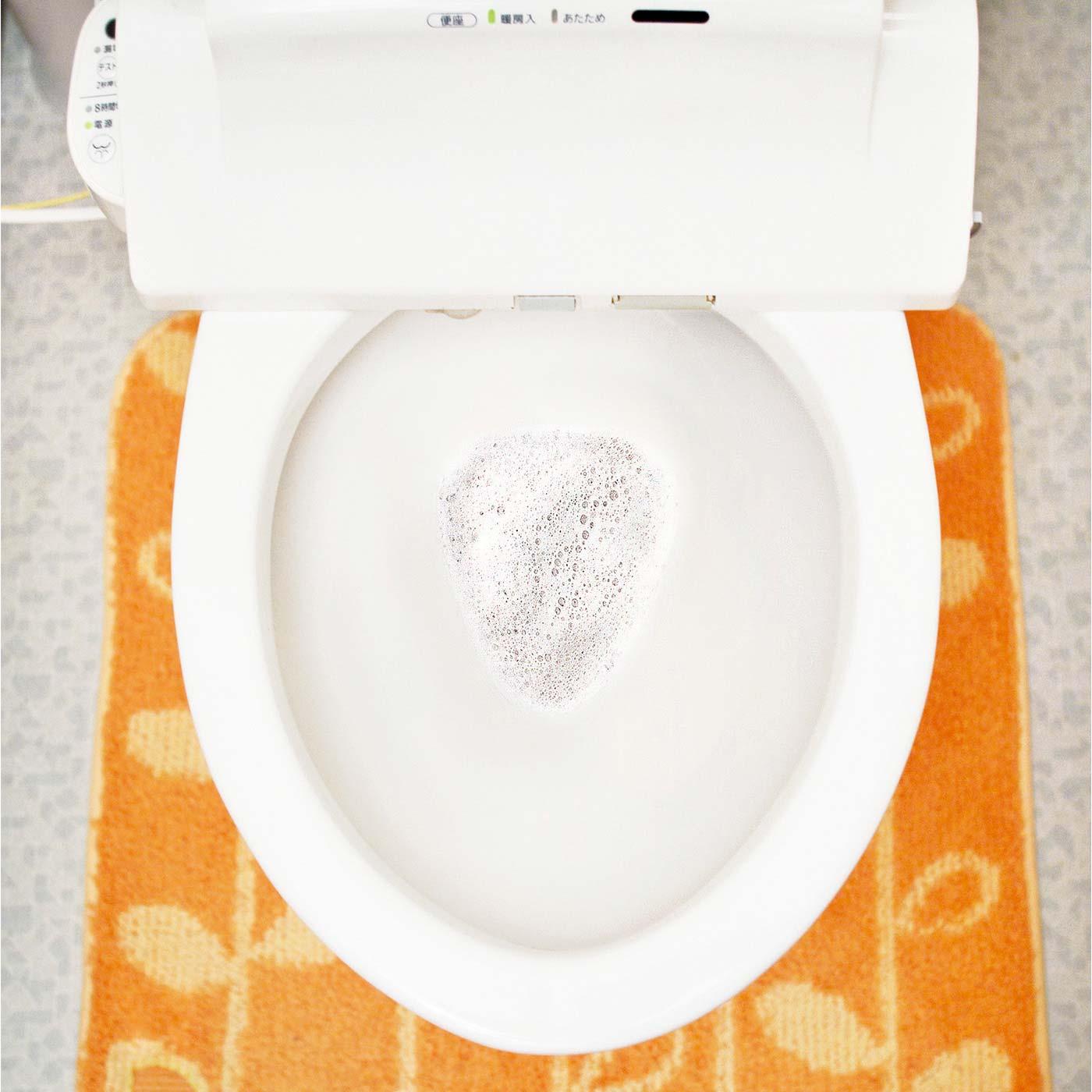 振りかけておくだけでお掃除完了。こすらなくてもお掃除上手。