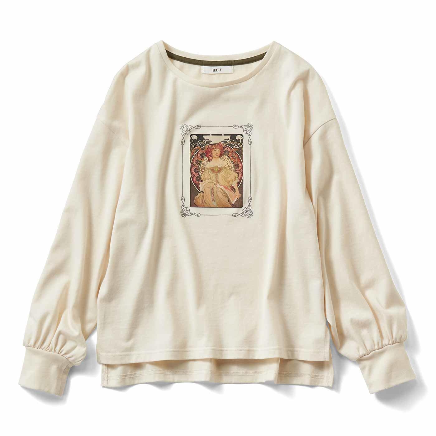 IEDIT[イディット] 繊細なミュシャのアートをまとう パフスリーブTシャツの会