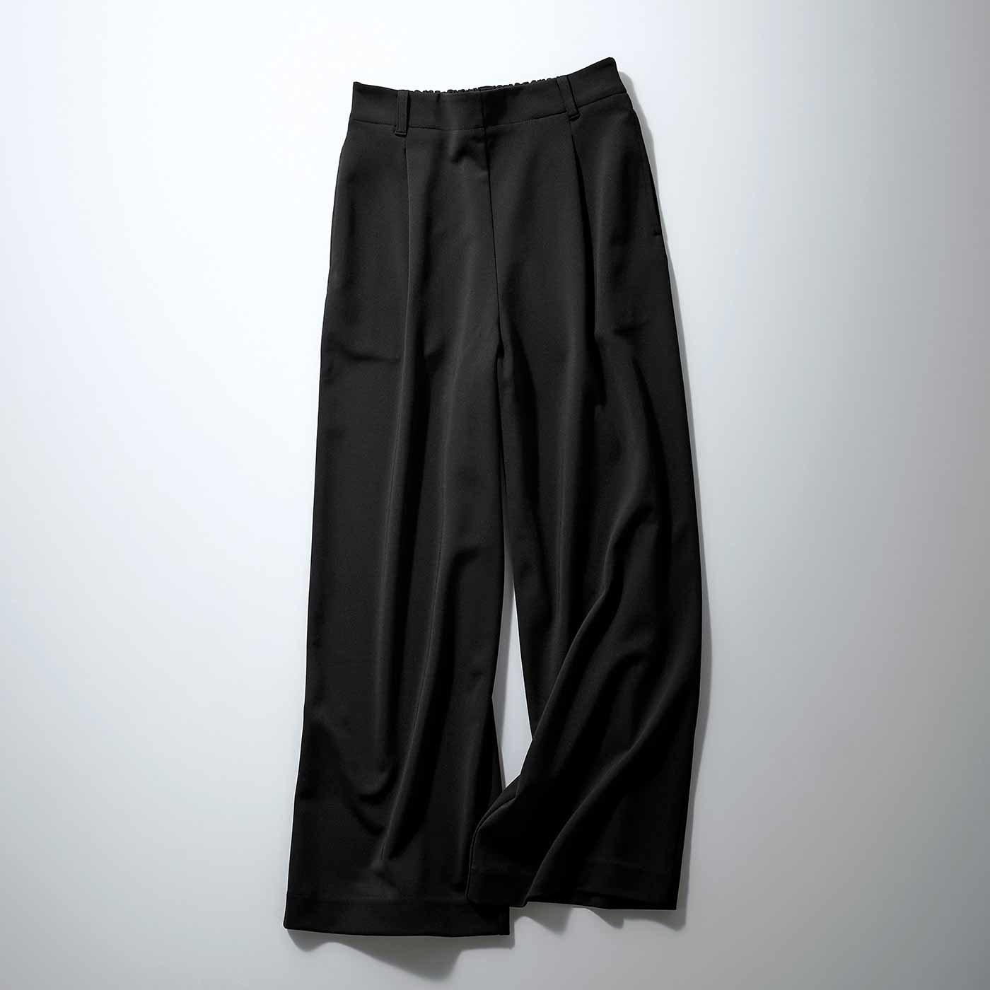 IEDIT[イディット] 花粉リリース&UVカットで快適優秀なバレエフィット(R)パンツ〈ブラック〉