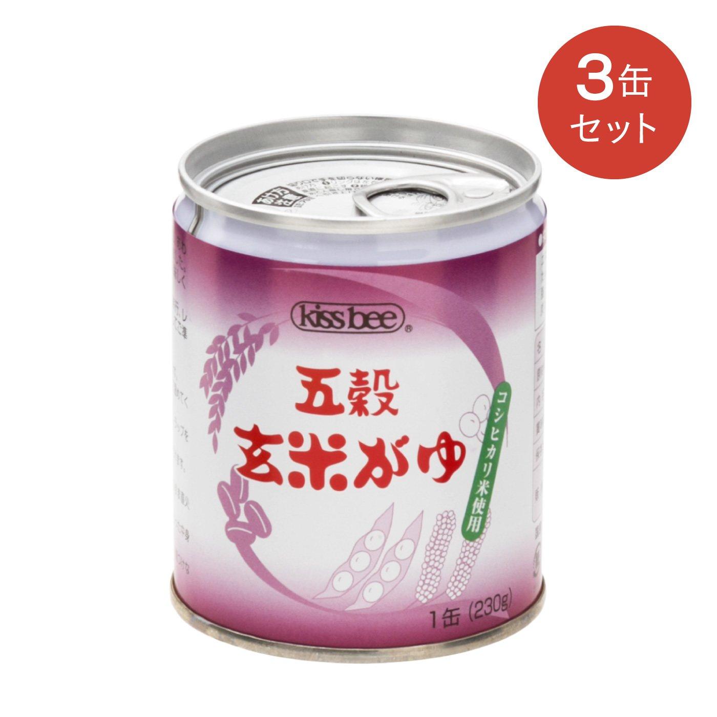 プチプチうまい炊き上がり 国産素材の五穀玄米がゆ〈3缶セット〉の会