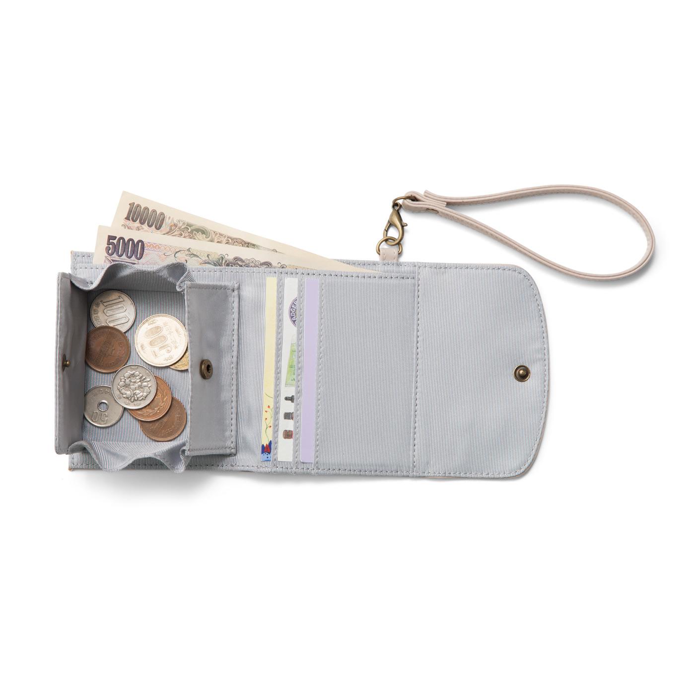 小銭がひと目で見渡せて、取り出しやすいボックスタイプ。