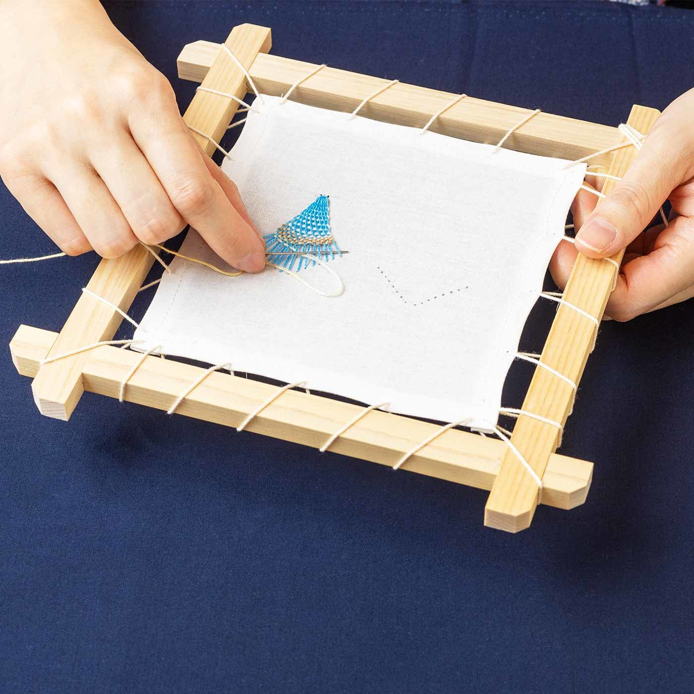 ニャンドゥティが作れる専用木枠と糸のセット