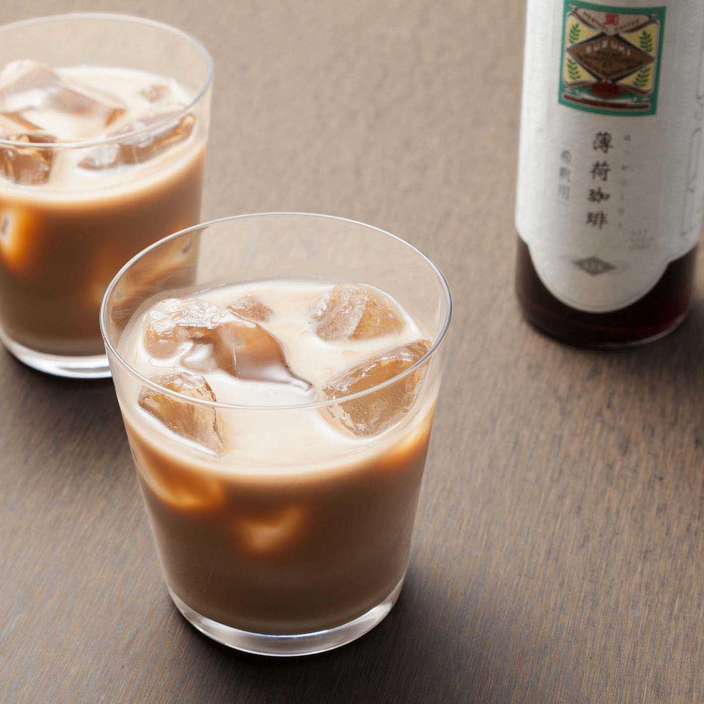 冷たいミルクで割ってアイスカフェオレで。