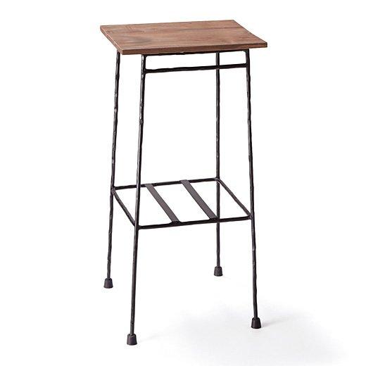 少し背の高い ちょい置きマイカフェテーブル〈ブラック〉