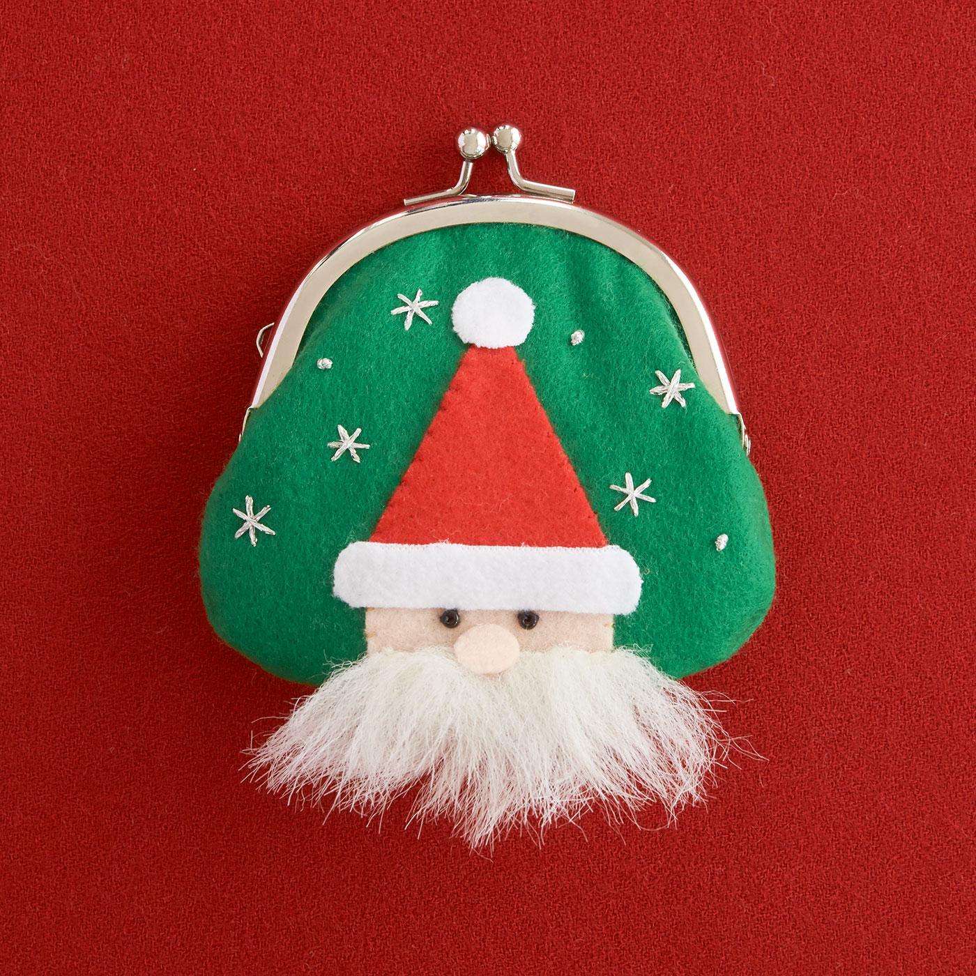 長いお髭がチャームポイント サンタクロースがまぐちキット