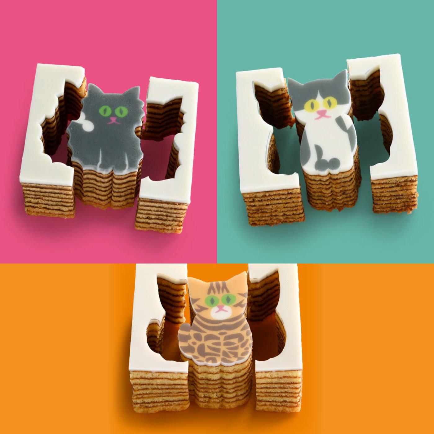 型ぬきバウム Cat Out! confectionery (3個入り)