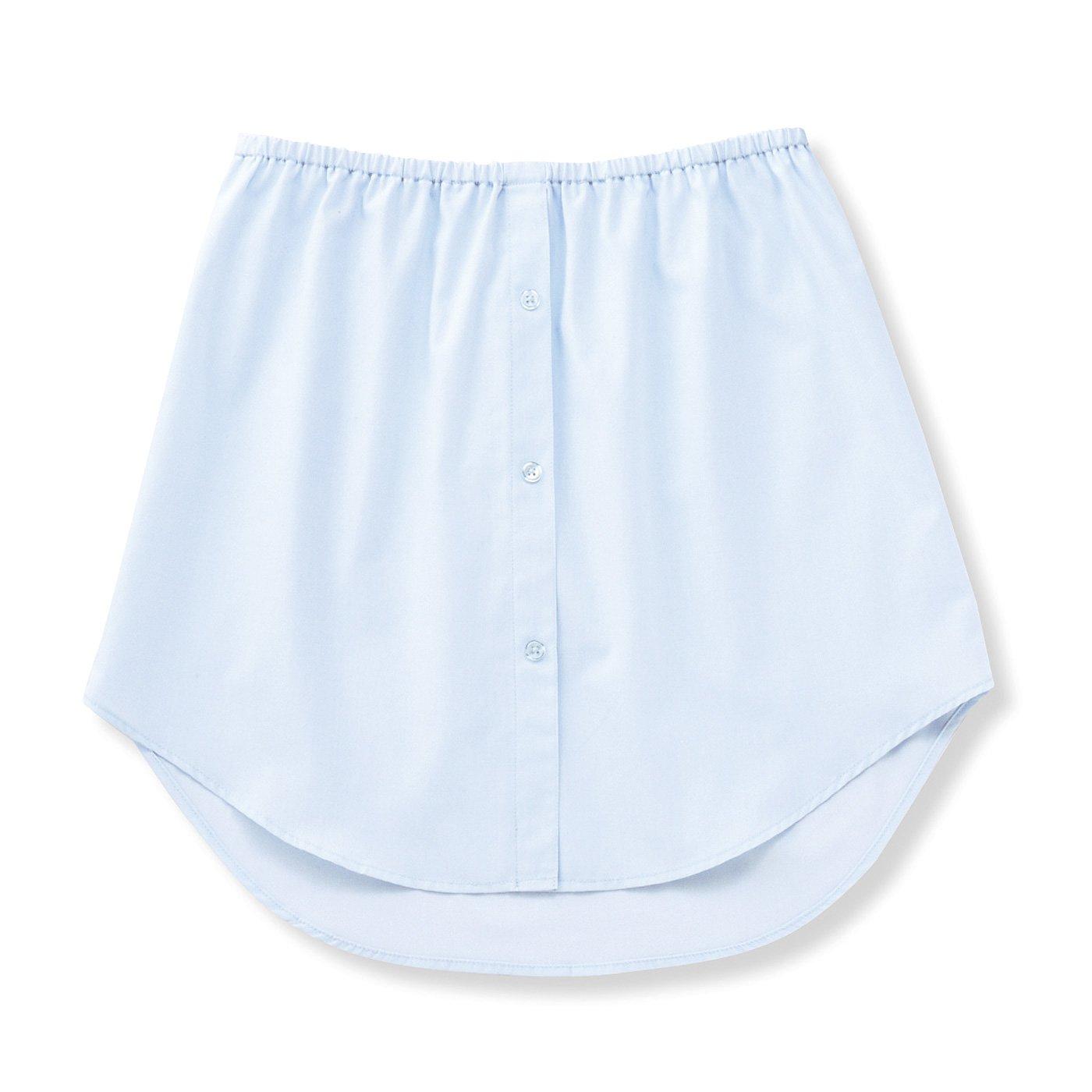こそっとおしゃれに体形カバー 軽やかなシャツで気分春めく 重ね着風付けすその会