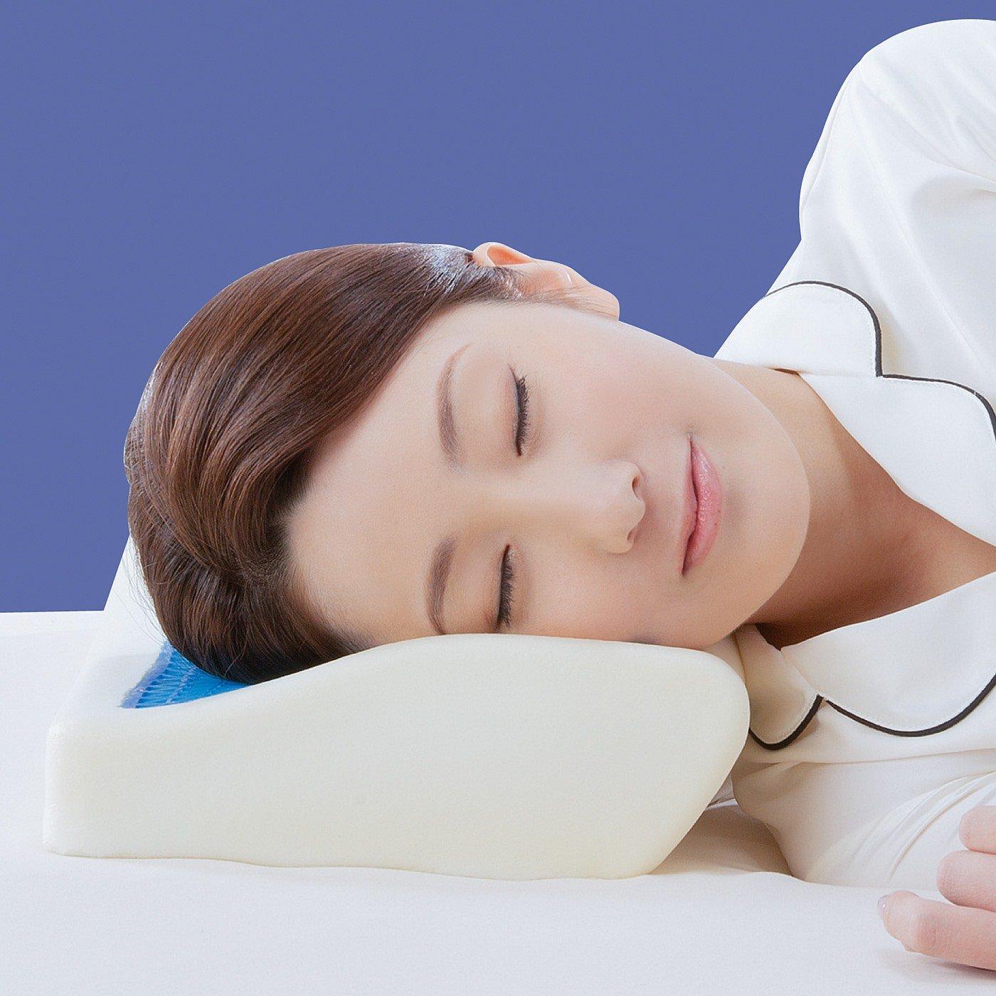 ゲルと低反発のダブル使いで体圧分散 快適な眠りをサポートする3D形状ゲル枕