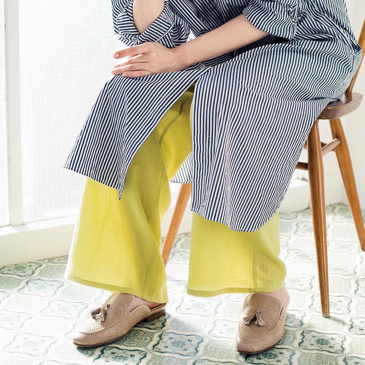 シアー感プラスで旬顔コーデ 綿100%でさらり快適 楊柳インナーパンツの会