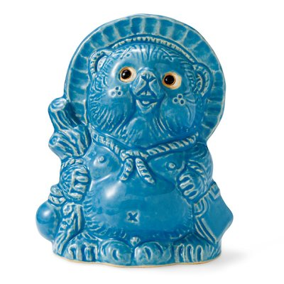 しあわせを呼ぶ縁起もの信楽焼の青い動物の会 フェリシモ FELISSIMO