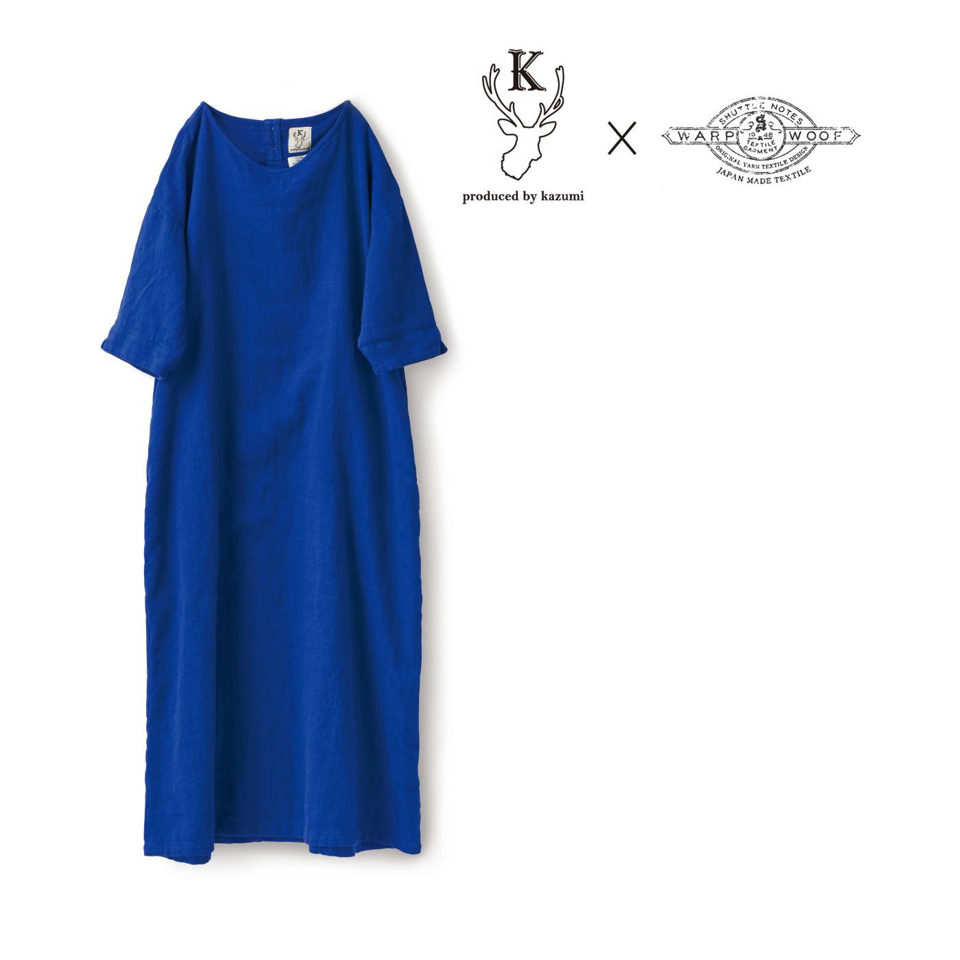フェリシモ サニークラウズ feat. Shuttle Notes kazumiのまっ青ワンピース〈レディース〉