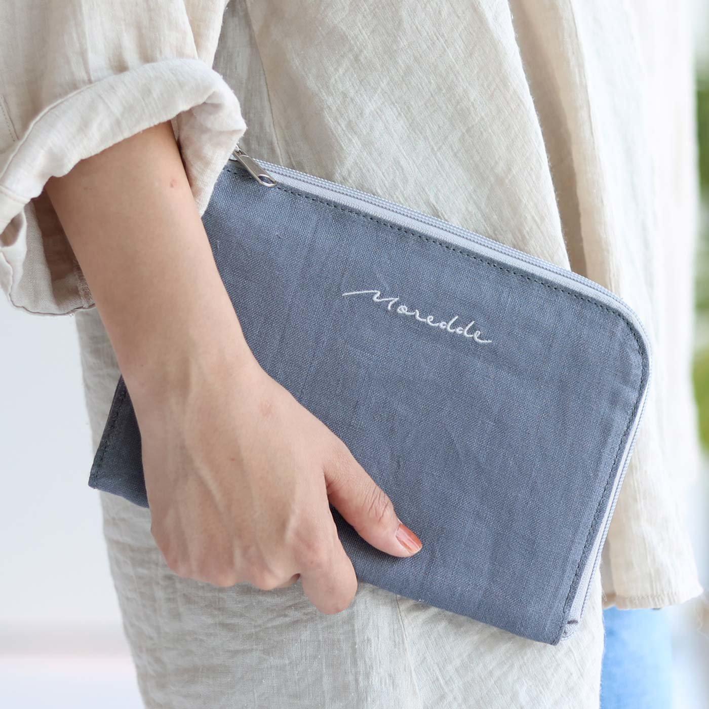 Moredde ジャバラポケットで仕分け上手 軽くてスリムな母子手帳ケース〈ブルー〉