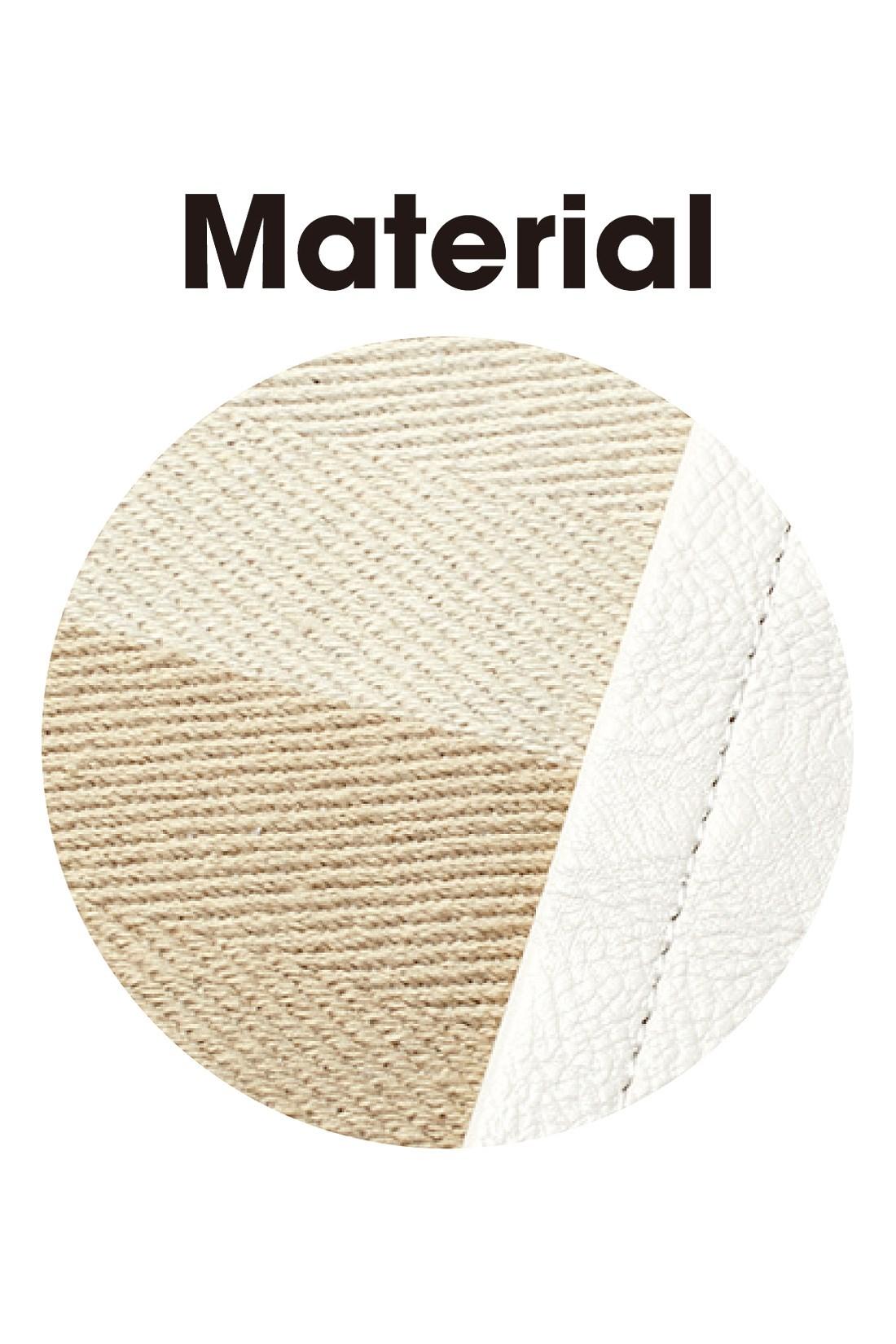 綾織りの先染めボーダー柄は、しっかりとした綿素材。