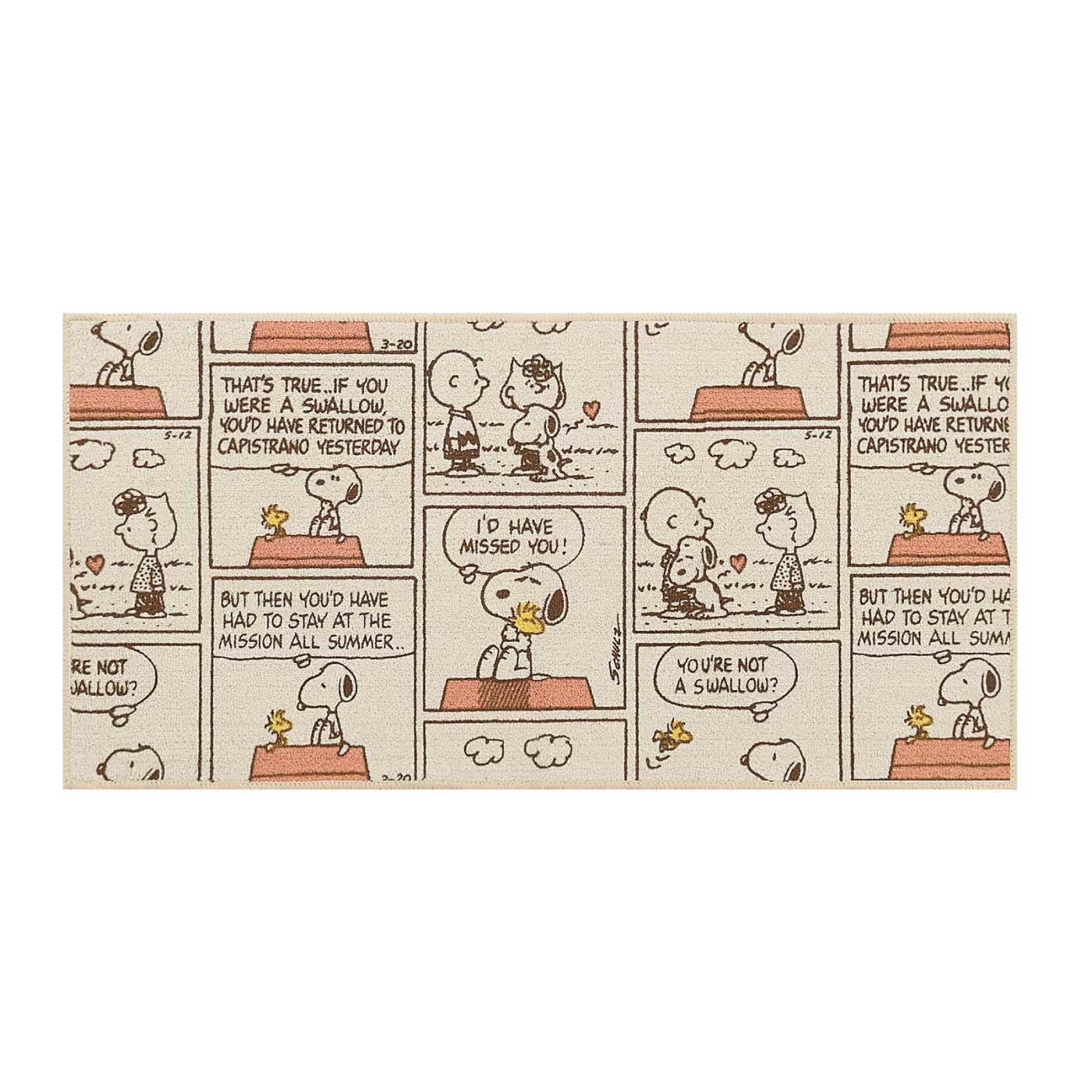 大好きスヌーピー! ピーナッツコミック キッチンマット90