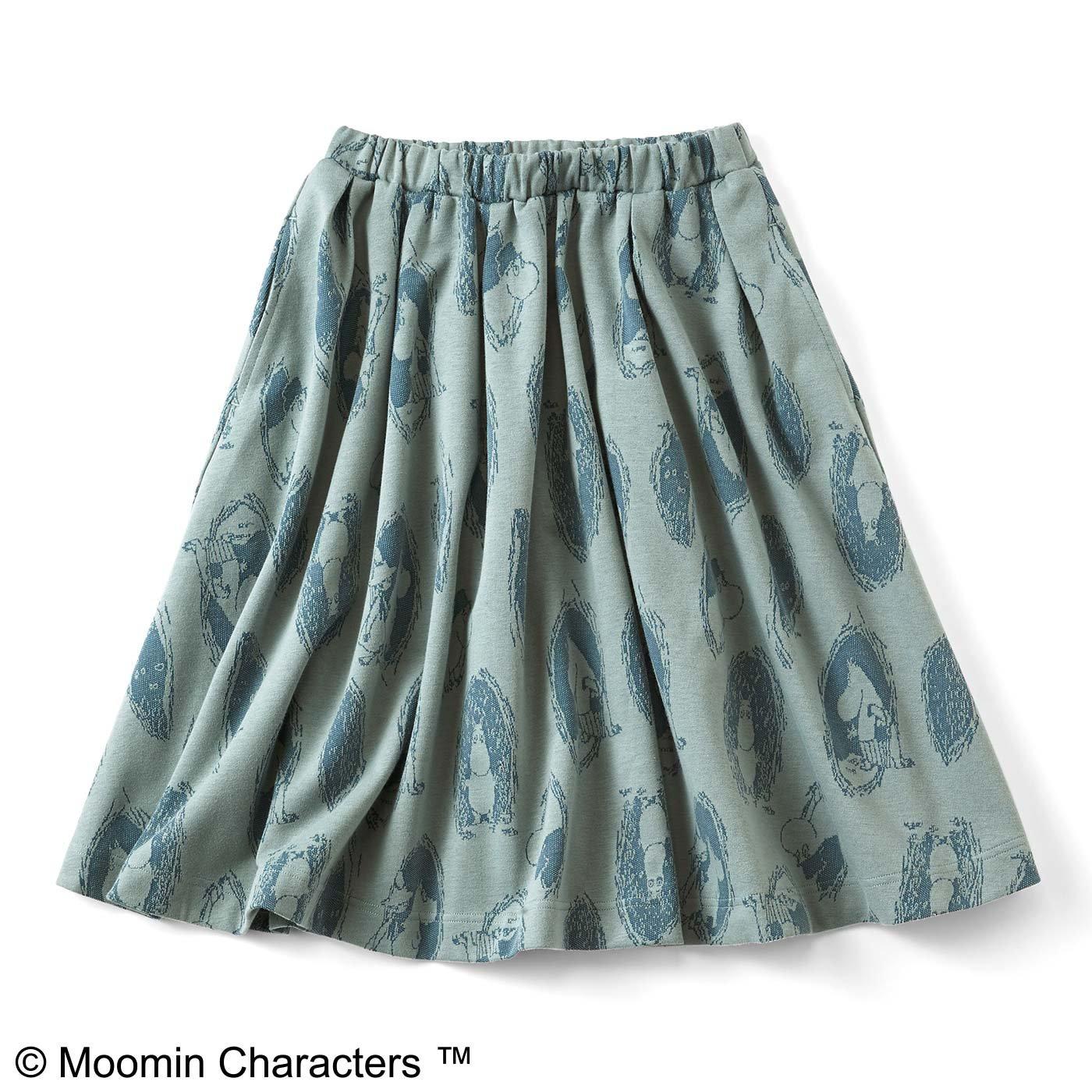 ムーミンと仲間たち カットソージャカードスカート〈ブルー〉
