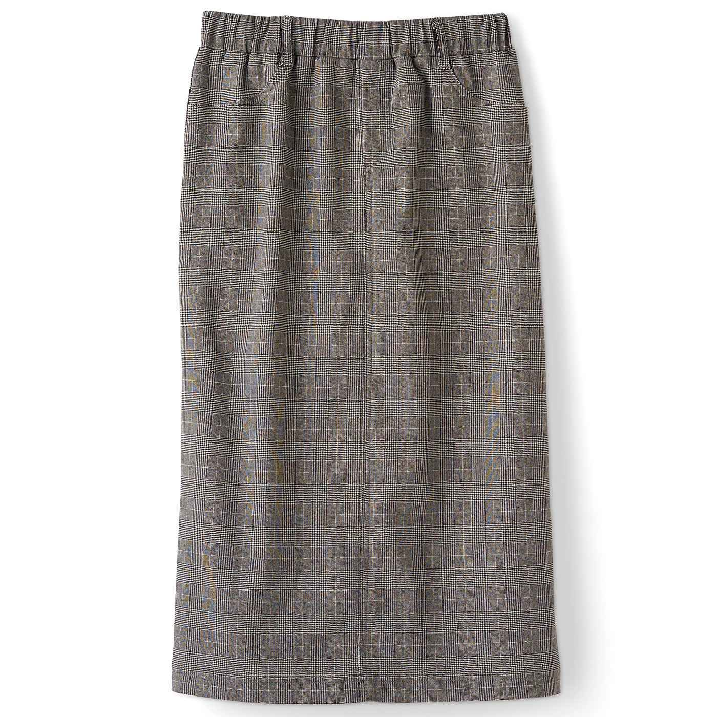 DRECO by IEDIT 裏起毛グレンチェックナロースカート〈チャコールグレー〉