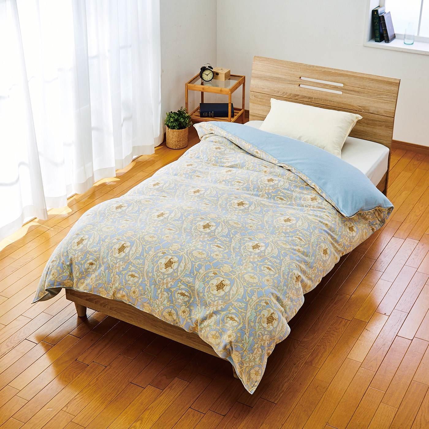 V&A Arts&Crafts collection とことん眠りにこだわった 綿起毛でリッチな寝心地 ウォームパイル 掛けふとんカバー レチレード〈シングル〉