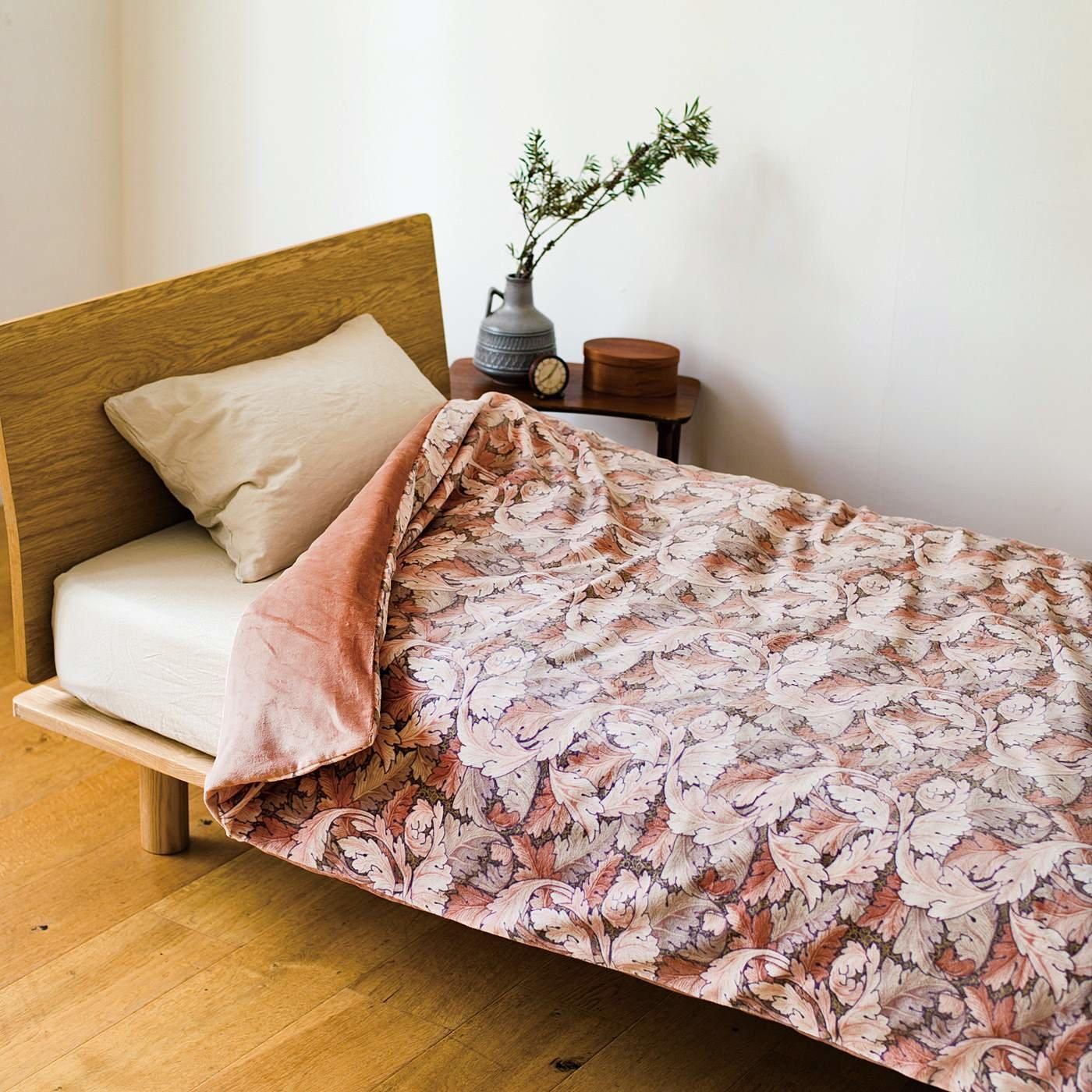 V&A Arts&Crafts collection とことん眠りにこだわった 綿起毛でリッチな寝心地 ウォームパイル 掛けふとんカバー アカンサス〈シングル〉