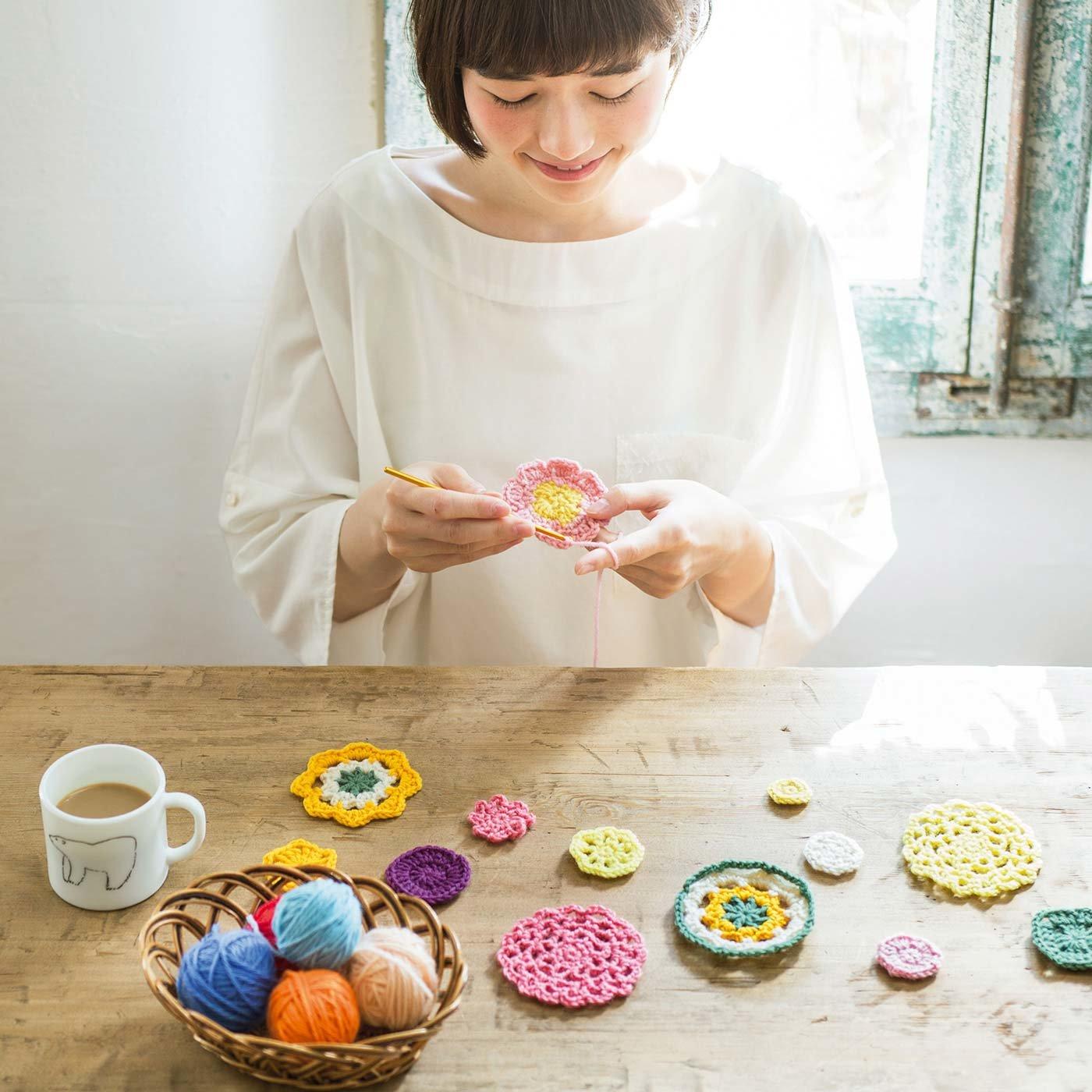 【9回分セット販売】「はじめてさんのきほんのき」 くさり編みからきちんとレッスン♪ かぎ針モチーフ編みの会
