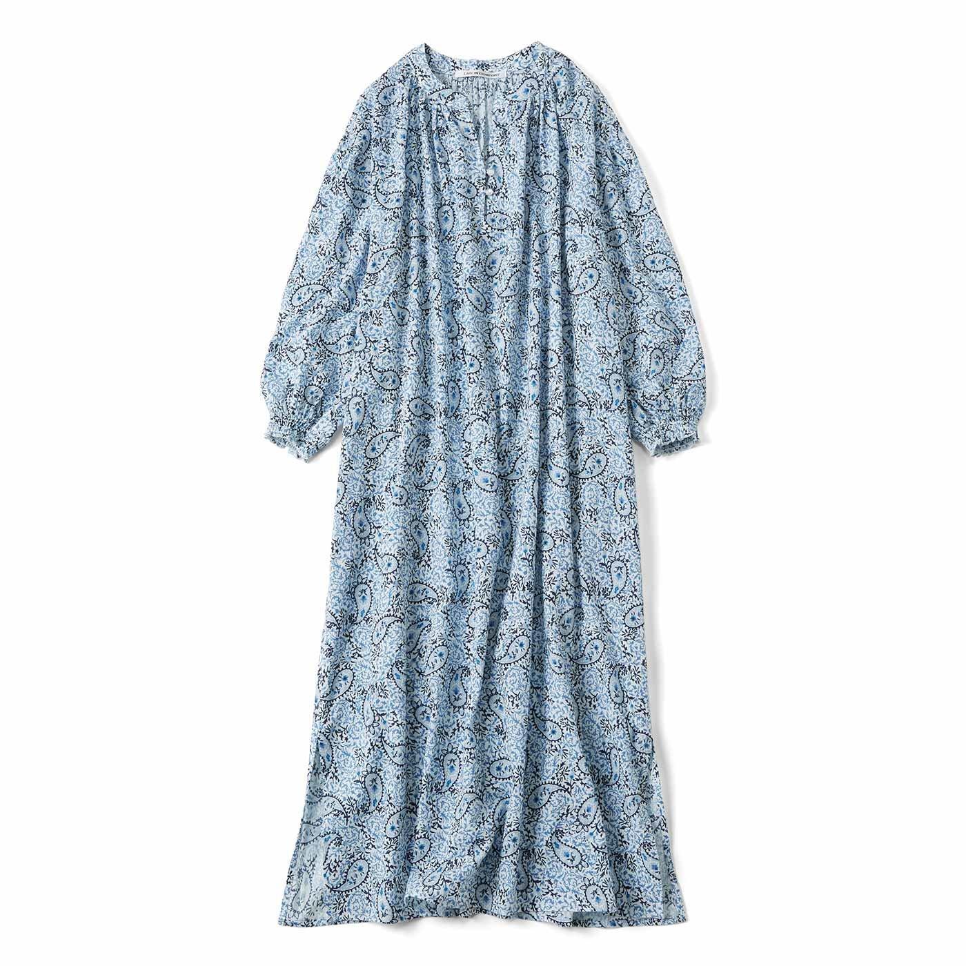 リブ イン コンフォート 世界の模様を身にまとう 楊柳(ようりゅう)素材のドレスワンピース〈ペイズリー〉