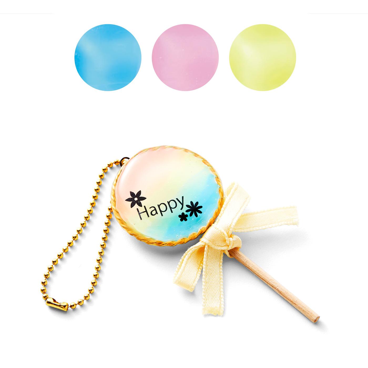 キャンディーカラー〈ネオンブルー〉〈ネオンピンク〉〈ネオンイエロー〉 レインボー風アレンジ ※アレンジ作品例のチェーン・ブローチピン・ピアス金具はお届け内容に含まれません。