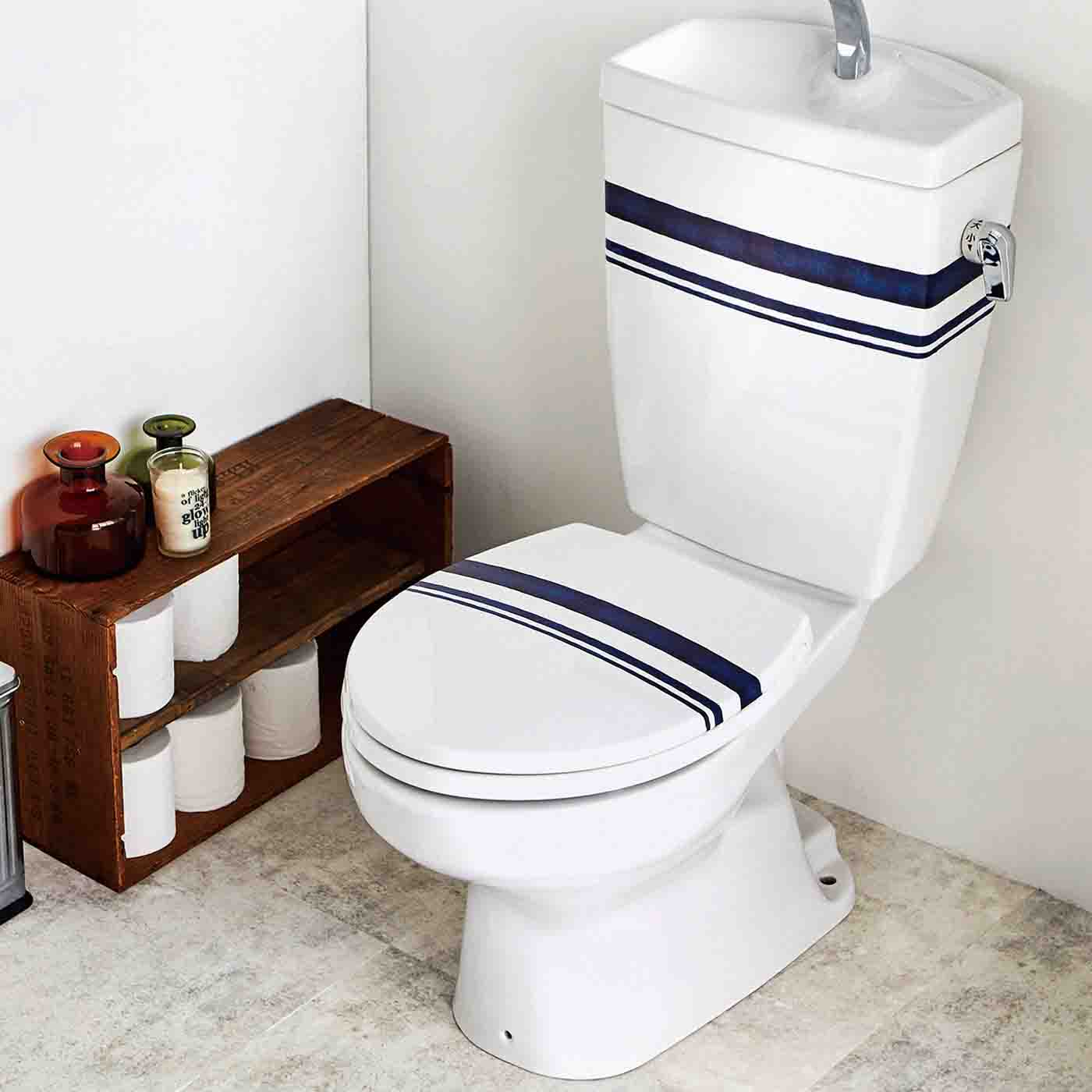 フェリシモ 貼るだけで消臭 トイレのデコレーションシール〈手描きライン〉の会【定期便】