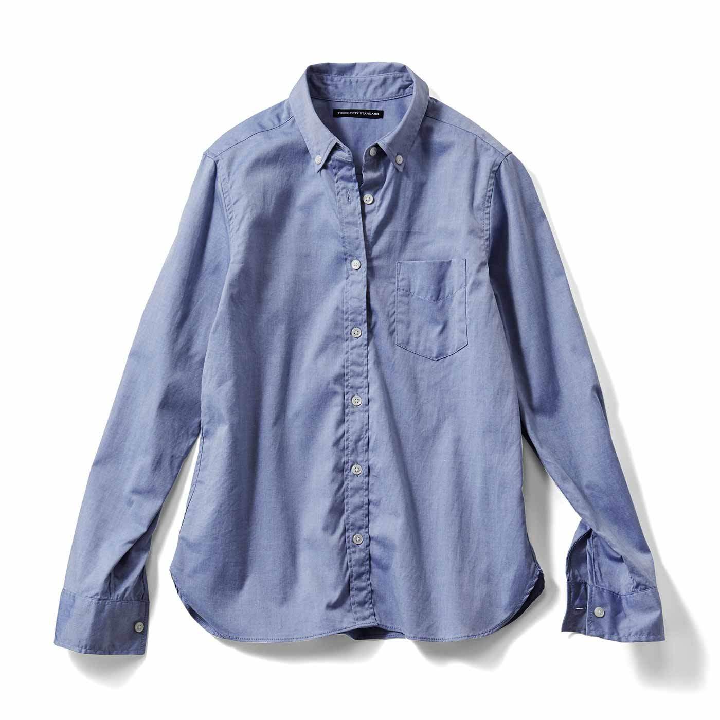 THREE FIFTY STANDARD 定番ボタンダウンシャツ〈ブルー〉