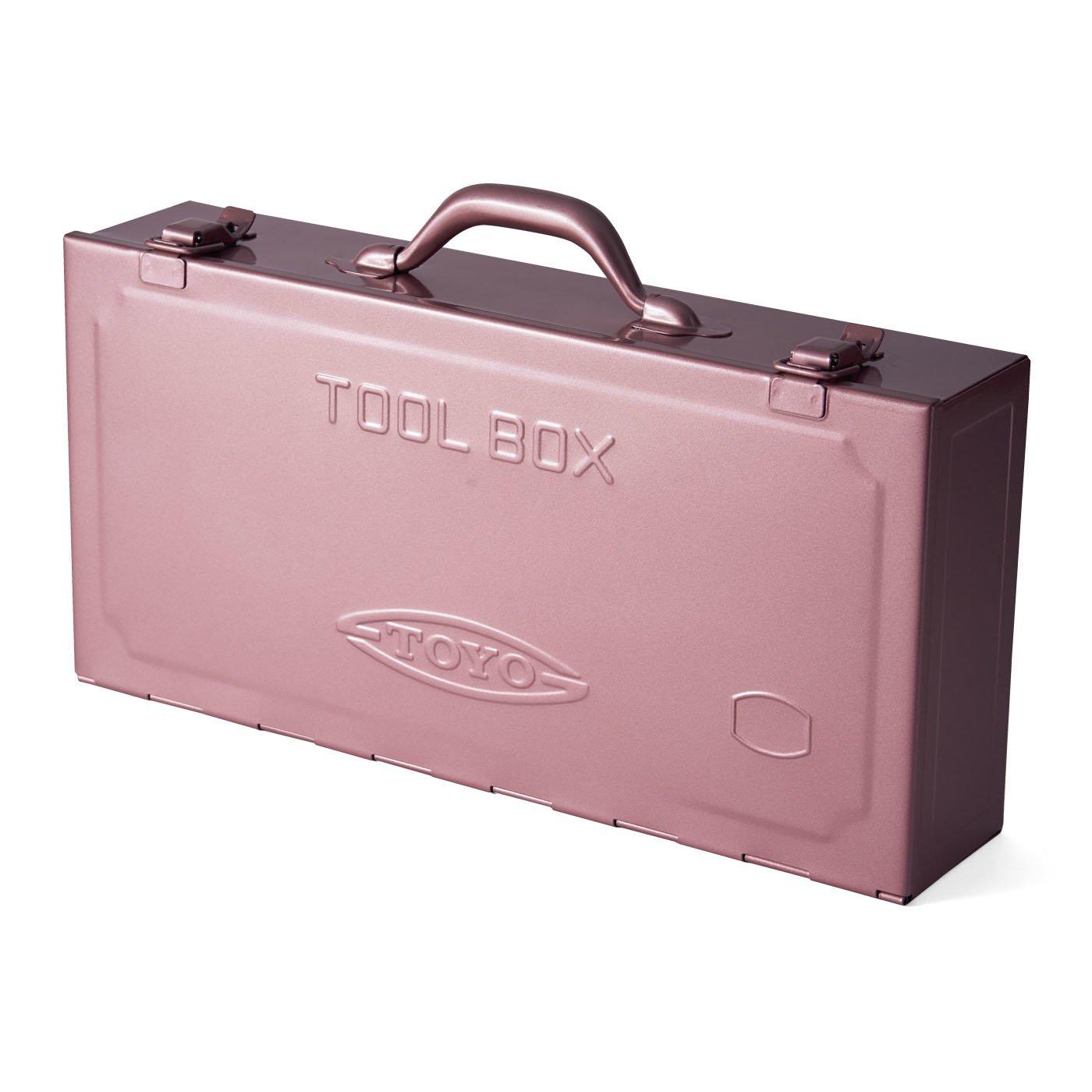 まるでトランクみたい! ビッグスチール工具箱〈レトロピンク〉