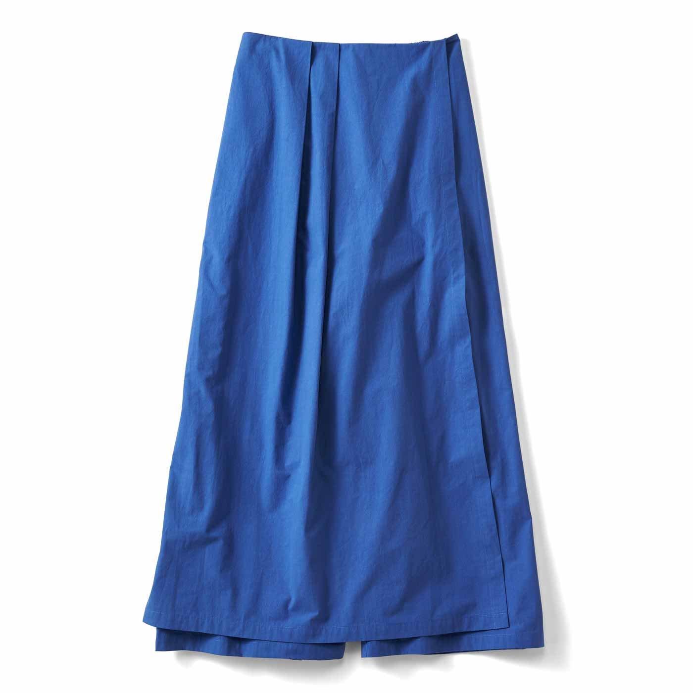 【3~10日でお届け】スカートみたいなラップ風パンツ〈ブルー〉