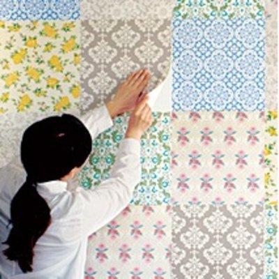 RoomClip商品情報 - 夢見るヴィンテージ壁紙 お手軽パッチワーク式 貼ってはがせるアクセントシールの会 フェリシモ FELISSIMO