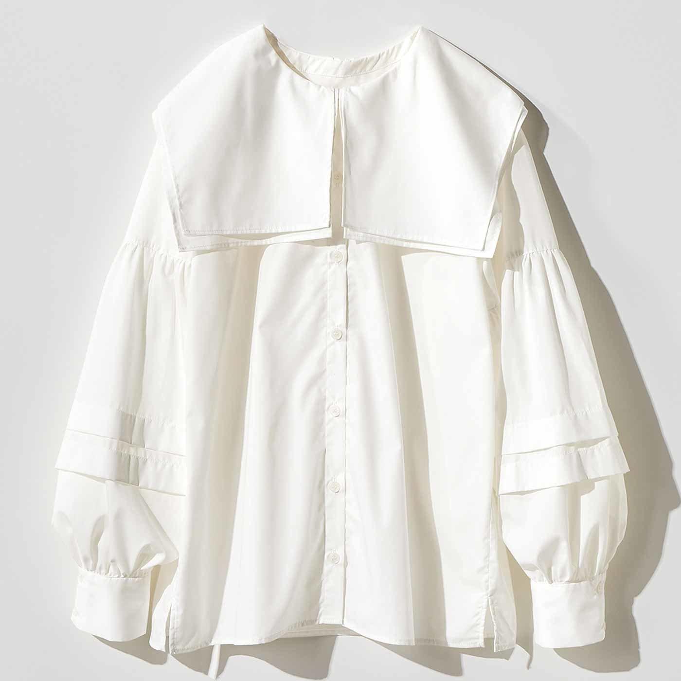 MEDE19F ピューリタンカラーシャツ〈ホワイト〉