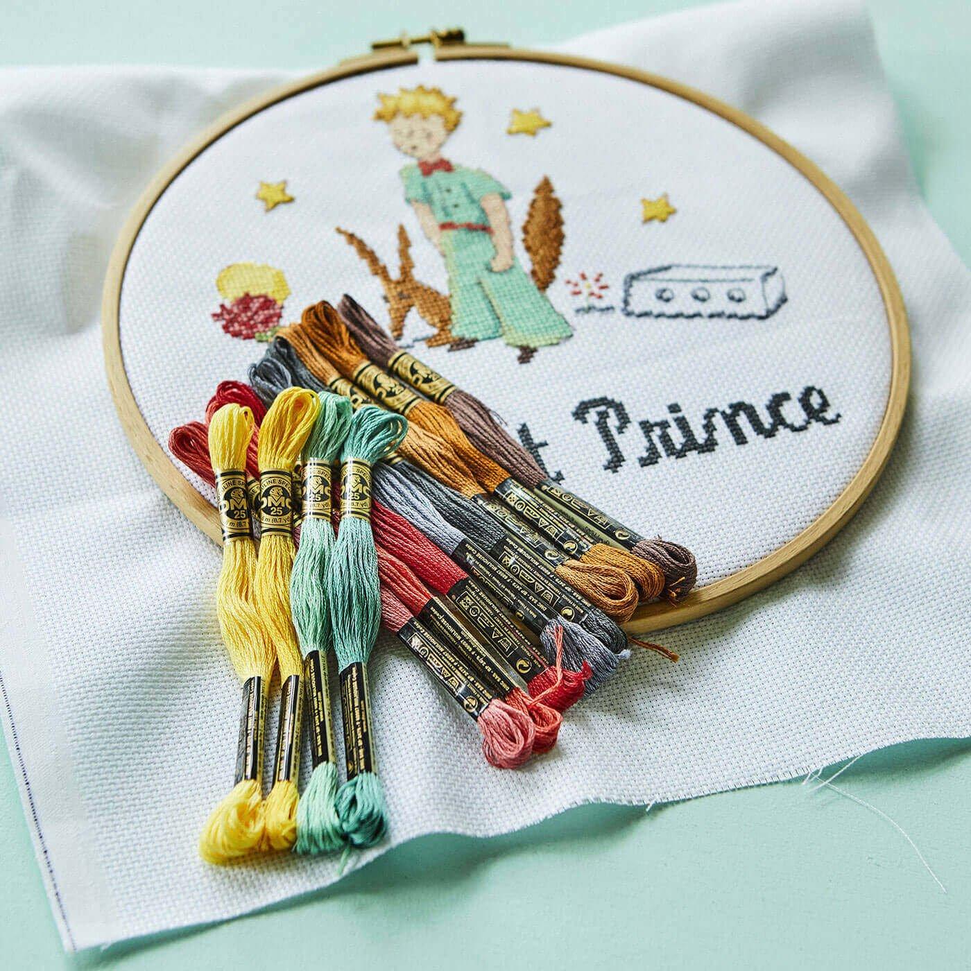 図案集の表紙の「星の王子さま」が刺しゅうできちゃう! 表紙図案用 刺しゅう糸セット