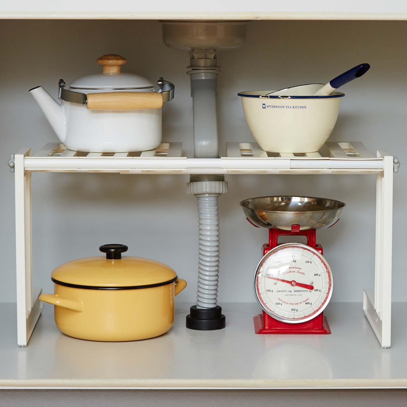 キッチンのシンク下でも便利に使えます。