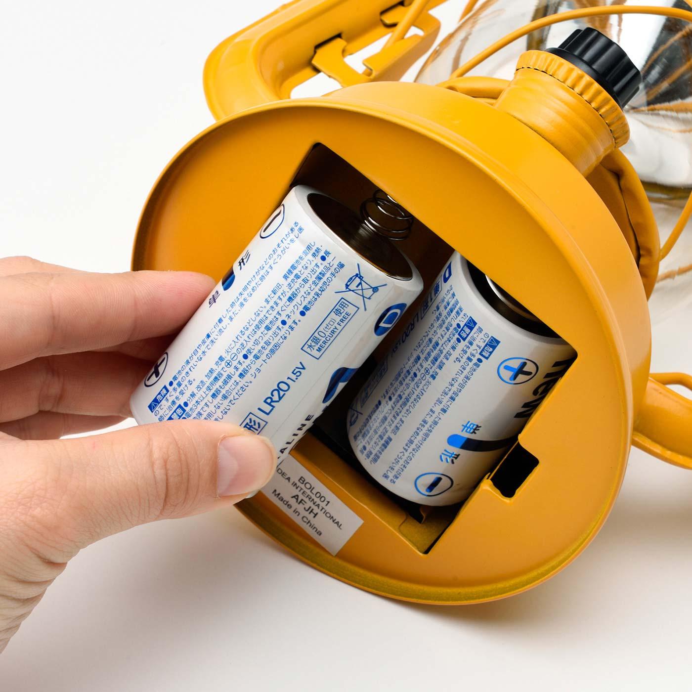電池式なので、どこでも使えて便利。