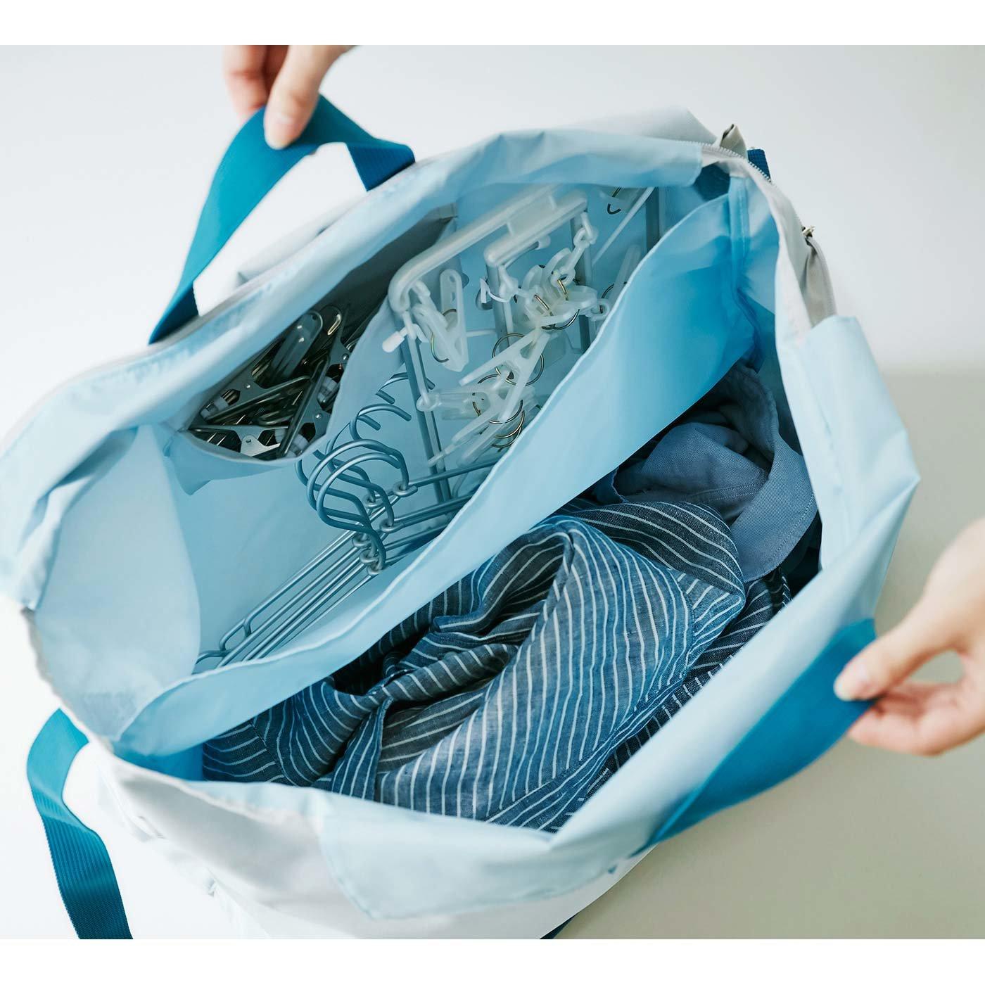 洗濯物の持ち運びにも便利 ハンガーすっきりおまとめバッグ